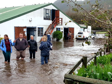 The Riding Centre flooded on 13 April