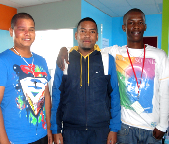 Volunters Shodiq Jardien, Muneeb Johnson and Allistair Nocanda